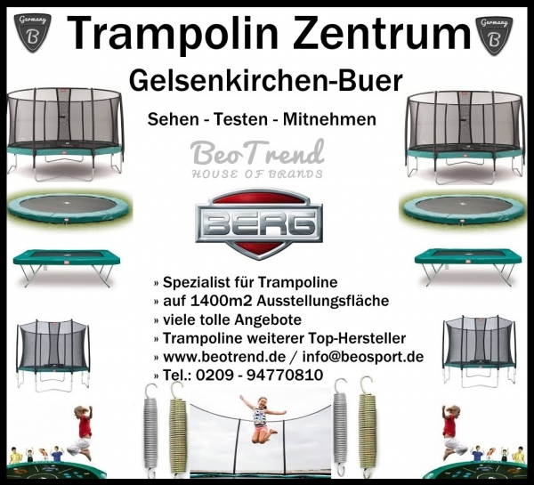 BERG Trampolin InGround Favorit mit Comfort Netz grün